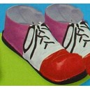 Copriscarpe Clown plastica rigida colorate